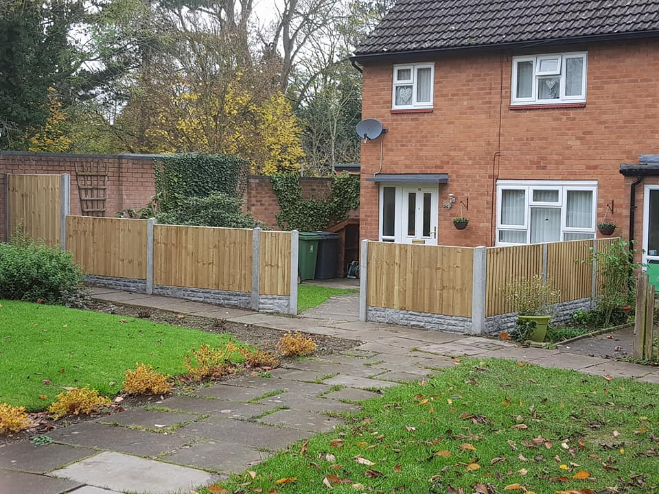 concrete post and fencing